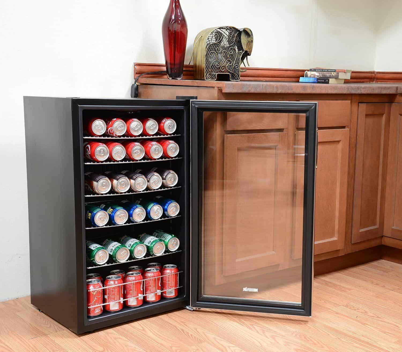 Undercounter Beverage Refrigerator Glass Door Glass Door Beverage Fridge